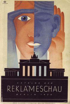 Weimar-era Berlin book cover design by Lucian Bernhard and Fritz Rosen, Germany, 1929