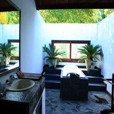 Outdoor Bathrooms And Indoor Gardens....like the window to let light in.....