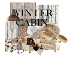 """""""winter cabin"""" by xxmlotionlessxx ❤ liked on Polyvore featuring interior, interiors, interior design, home, home decor, interior decorating, WallPops, Cole & Son, Piet Hein and Piet Hein Eek"""