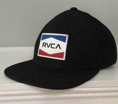 41707a6fff960 RVCA Nations Snapback Hat (Black White) Mid Fit  RVCA