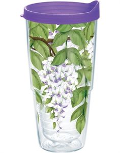 Prints & Patterns | Wisteria with Purple Travel Lid | Wisteria with Purple Travel Lid | Tumblers, Mugs, Cups | Tervis