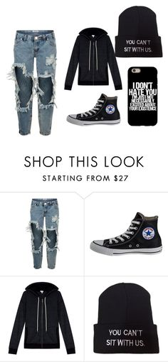 """""""Emo Trans Boy"""" by demonxbabe ❤ liked on Polyvore featuring OneTeaspoon, Converse, Splendid, men's fashion and menswear"""