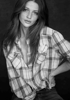 plaid + jeans + cintia dicker
