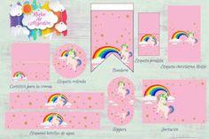Kits imprimibles diseños variados Ideas Decoración, Printable Tags, Lollipops, Water Bottles, Custom Chocolate