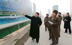 Kim Jong-un visits the Mirae Scientists Street construction site in Pyongyang