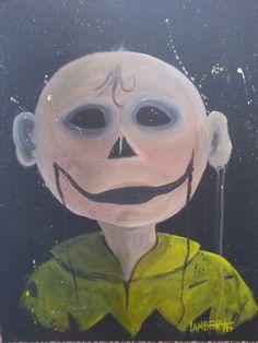 """Chuck Brown"" acrylic on canvas by Shaun Lambert 2014"