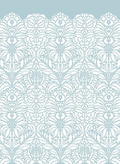 Indian Floral Damask Stencil Indian Floral Repeat Stencil-great for a tone on tone or to create more of a textural effect