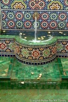 Mosaic Fountain-- A girl can dream, right?