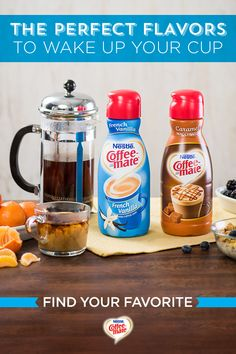 Say goodbye to boring, dull coffee and say hello to flavors that jumpstart your day. Transform your everyday and awaken the exceptional when you use Coffee-mate creamers. From favorites like Hazelnut to decadent twists like Chocolate Toffee Truffle, find your flavor at coffeemate.com.