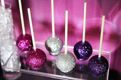 Glitter Cake Pops | Trend Alert: Graphic Vinyl Backdrops // Hostess with the Mostess®