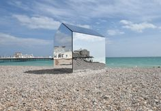 – a mirrored hut designed by local firm ECE Architecture