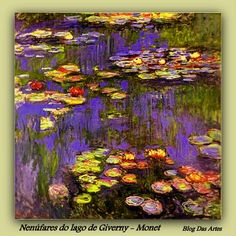 Nenúfares do Lago de Giverny - Claude Monet