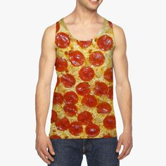 All over Pepperoni Pizza Tank | unisex food tank top