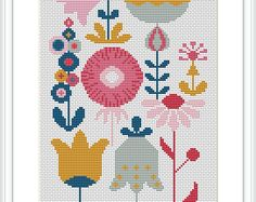 Flower Arrangement cross stitch pattern is a modern design with minimalist shapes of vases, flowers and leaves. You can use white fabric and replace white color with your desired one so that the design match your wall. PATTERN SPECIFICATIONS: Stitches: full cross stitch Colors: DMC stranded cotton Required Colors: 2 Stitch size: 141 x 88 SUGGESTION: Fabric: 14 count Aida Strands: 2 Designed area: 10.07 x 6.29 or 25.6 x 16 cm This PDF pattern contains: - Cover - Floss Palette - Color…