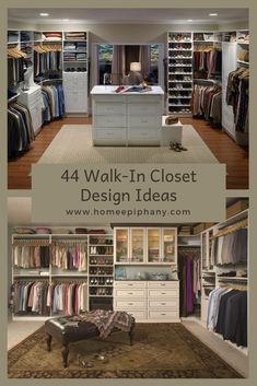 44 Walk-In Closet Design Ideas Walk In Closet Design, Closet Designs, Dream Closets, Other Rooms, Home Decor Inspiration, Home Organization, Home And Living, Decorating Your Home, Interior Architecture