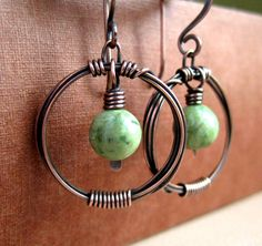 2015/07/21 copper wirework earrings