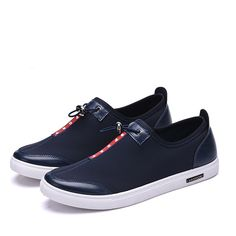Find More Men s Casual Shoes Information about Hot Sell Fashion Men Shoes  Breathable Slip on Black 466916d93362