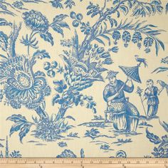 Screen-printed on 100% linen, this versatile medium/heavyweight fabric is perfect for window treatments (draperies, valances, curtains and swags), toss pillows, duvet covers, pillow shams, slipcovers and upholstery. Colors include blue and ivory. This fabric has 24,000 double rubs.