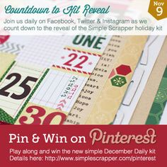 Mini Book Ideas for Simple Scrapper's Pin & Win Contest  #SimpleDecDaily