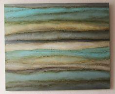 Morze - obraz abstrakcyjny, akrylowy na płótnie, marynistyka by Sylwia Michalska