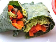 Paleo Recipes! Low-Fat Peacamole Wraps | http://diyready.com/36-guilt-free-paleo-diet-recipes/