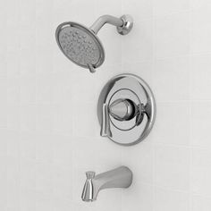 American Standard Chatfield Single-Handle 3-Spray Tub and Shower Faucet in Polished Chrome-7413502.002 - The Home Depot $99 highly rated