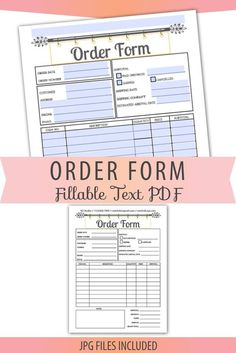 Order Form Template Free, Invoice Template, Craft Business, Business Names, Business Ideas, Letter Size, Starting A Business, Craft Fairs, Digital Scrapbooking