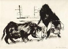 Josef Hegenbarth, Zwei chinesische Schweine, um 1937