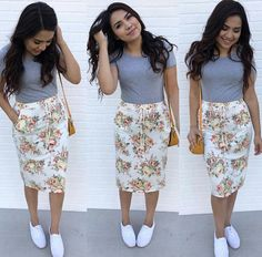 Definitely a longer shirt, but the skirt is adorable