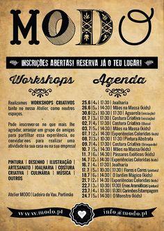 WORKSHOPS DE VERÃO para miúdos e graúdos! Summer workshops for everyone !