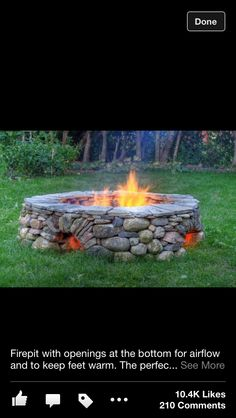 Fire pit - a smaller version of this would be great down near the water.