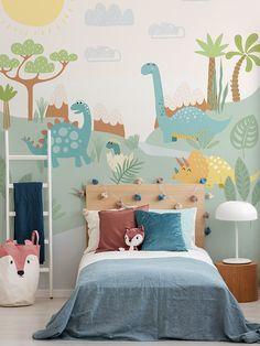 Baby Bedroom, Baby Room Decor, Nursery Room, Girl Room, Girls Bedroom, Kids Bedroom Designs, Kids Room Design, Die Dinos Baby, Dinosaur Bedroom
