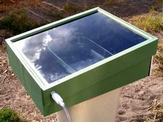 How to Build a Solar-Powered Still to Purify Drinking Water     http://diyhomesweethome.com/how-to-build-a-solar-powered-still-to-purify-drinking-water/