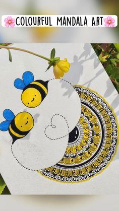 Mandala Art Therapy, Mandala Art Lesson, Mandala Artwork, Doodle Art Drawing, Mandala Drawing, Watercolor Mandala, Carillons Diy, Doodle Art Designs, Small Canvas Art