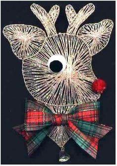 String art Christmas reindeer (no pattern)