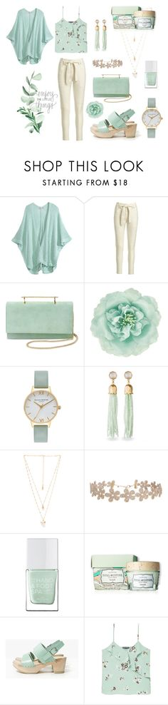 """Minty Green Collections"" by janemusic ❤ liked on Polyvore featuring Calypso St. Barth, A.L.C., M2Malletier, Monsoon, Olivia Burton, Spartina 449, Natalie B, Humble Chic, The Hand & Foot Spa and MANGO"
