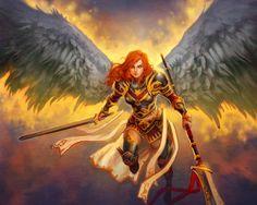 Znalezione obrazy dla zapytania angel warrior girl