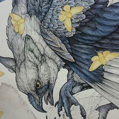 Wingsssss and whiskersss – Lauren Marx #laurenmarxart #griffin #drawing #penandink #wip #detailedshit #yo