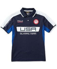Ralph Lauren Boys Tech Mesh Navy Blue Polo Shirt Size L 14-16  RalphLauren d48dde4b628