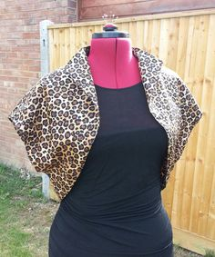 Leopard print fifties style bolero jacket made to by AliMoRetro, £28.00