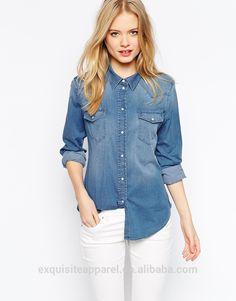 denim shirt women - Google Search