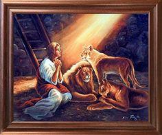 Daniel in Lion Den with Jesus Christ Scripture Religious ... https://www.amazon.com/dp/B01JS1LV1S/ref=cm_sw_r_pi_dp_x_LysVyb0FRHK55