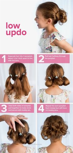 Nice Follow this easy tutorial for a kid's hairstyle that's perfect for school. This low updo can be created on long or short hair.  The post  Follow this easy tutorial for a kid's hairstyle that's perfect for school….  appeared first on  Hairstyles and Haircuts .