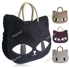 Fashionable Cute Cat Style Plush Bag Handbag for Women Ladies NFN-146069