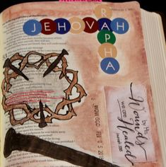 One of my first pages of Bible Journaling