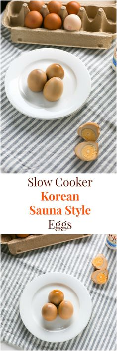How to Make Korean Sauna Style Eggs with a Slow Cooker | MyKoreanKitchen.com