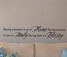Home Family Blessing Long Wall Decal