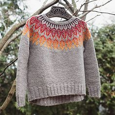 Ravelry: Arboreal pattern by Jennifer Steingass Fair Isle Knitting, Knitting Yarn, Sweater Knitting Patterns, Knit Sweaters, Crochet Patterns, Fair Isle Pattern, Knitting Projects, Knitting Ideas, Free Pattern