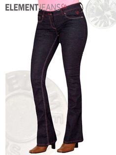 Power Stretch Dark Wash Boot Cut Jeans