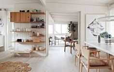 This home of Simone and Rhys Haag is a Scandinavia style house location in Melbourne's Eastern suburb of Ringwood, Simone Haag live with her husband Rhys Australian Home Decor, Australian Homes, Elle Decor, Sweet Home, Melbourne House, Little Cabin, The Design Files, Scandinavian Home, Home Interior